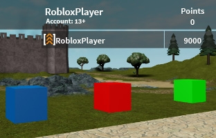 Picture of 3 color changing parts with a leaderboard