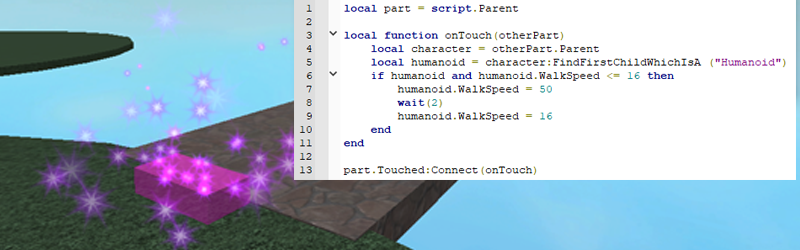 Roblox Player Speed Powerups With If Then Statements