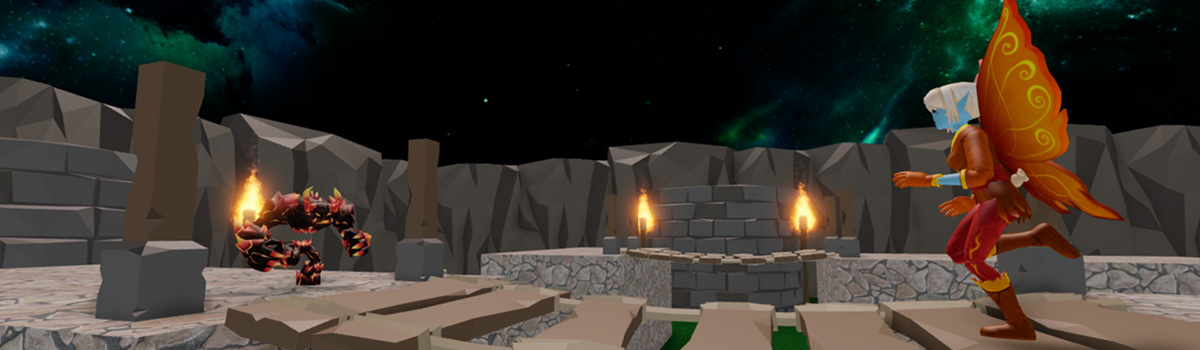 Players fighting in Roblox battle royale