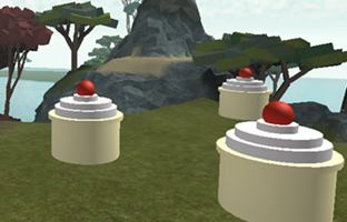 Picture of player using tool to collect cupcake in game