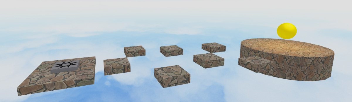 Picture of different parts like cubes and spheres