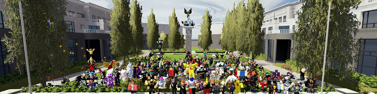 Many different Roblox users together